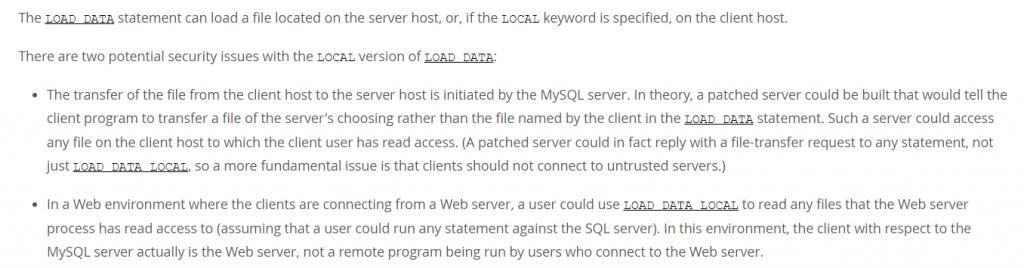 Read MySQL Client's File